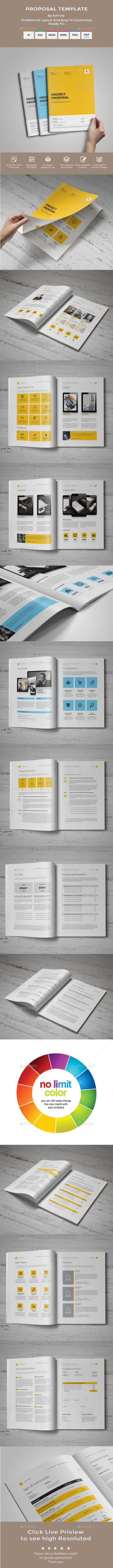 Proposal Template Proposal Templates Ai Illustrator And Template