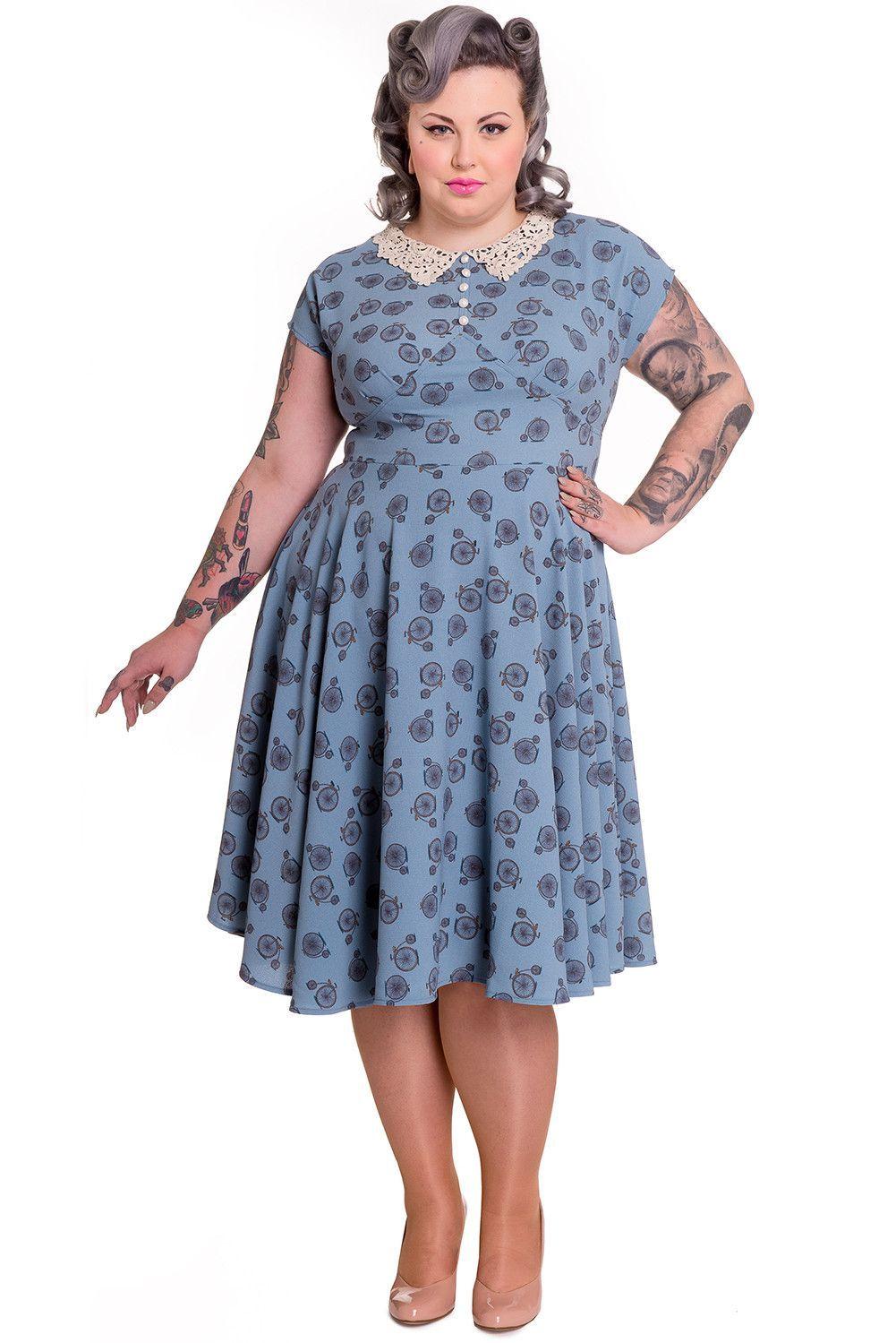 Plus size vintage tea party dresses