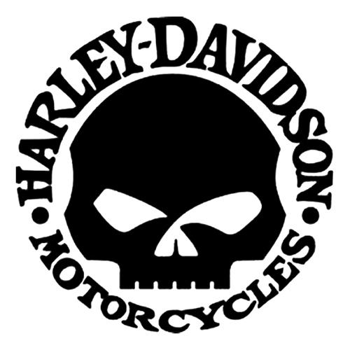 Harley davidson die cut vinyl decal pv975