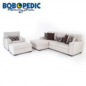 Playscape Right Arm Facing Sectional With Accent Chair Ottoman