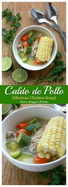 de Pollo, or Mexican Chicken Soup is the perfect comfort dish during cold weather. It takes on the flavors south of the border without overwhelming your palate. By Mama Maggie's Kitchen