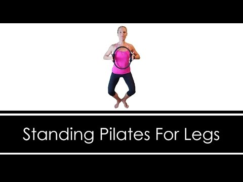 STANDING PILATES: LEG WORKOUT with Ring/Magic Circle - YouTube #magiccircle