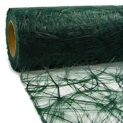 25 m x 30 cm sizoweb vlies original tischband tischl ufer dunkelgr n gr n tannengr n f r. Black Bedroom Furniture Sets. Home Design Ideas