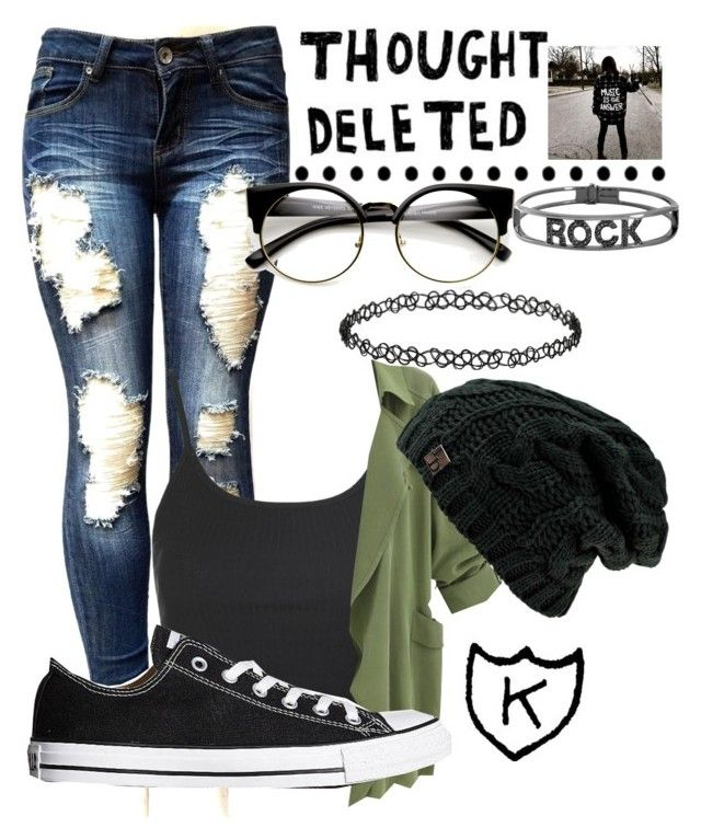 """""""Downer"""" by kayleerog ❤ liked on Polyvore featuring Topshop, Converse and Spallanzani"""