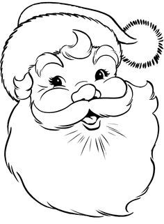 easy santa claus face clipart