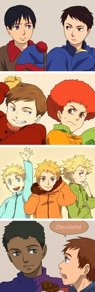 South Park - Stan / Craig / Cartman / Kyle / Butters / Kenny / Tweek / Token / Clyde