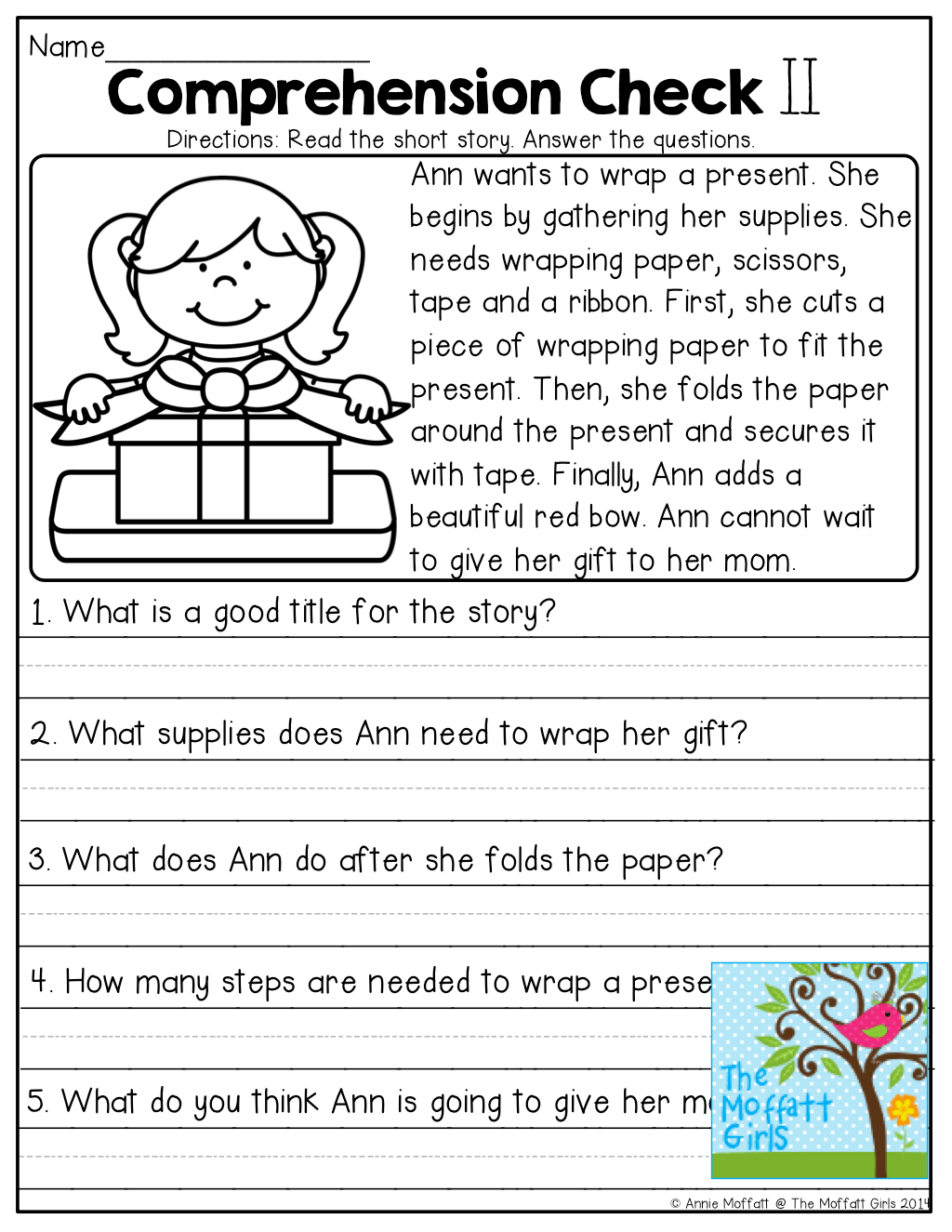 Worksheet Short Story For Comprehension Yaqutlab Free
