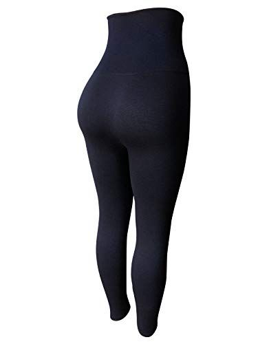 e7b87580d NY GOLDEN FASHION Women High Waist Tummy Compression Control Top Leggings  Micro-Fleece Leggings Shapewear