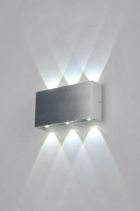 Wandlamp 85070 modern design aluminium rechthoekig