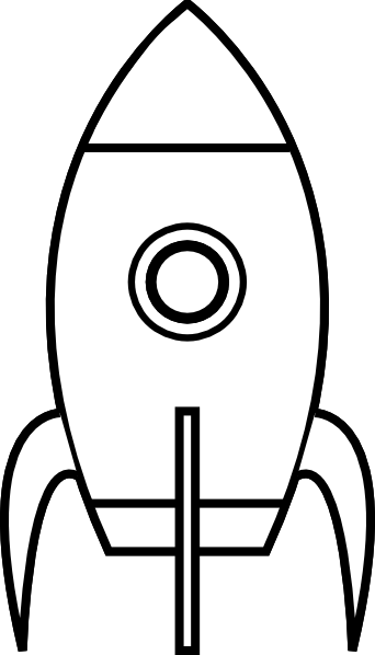 Rocket Ship Stencil Clipart Best Space Theme Classroom