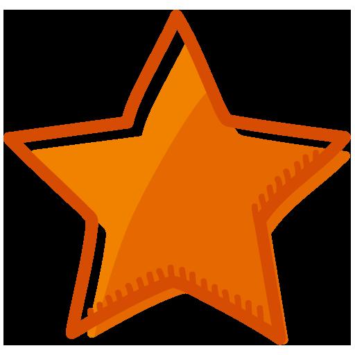 Orange Star Icon Icon Download Free Free Icons Icon