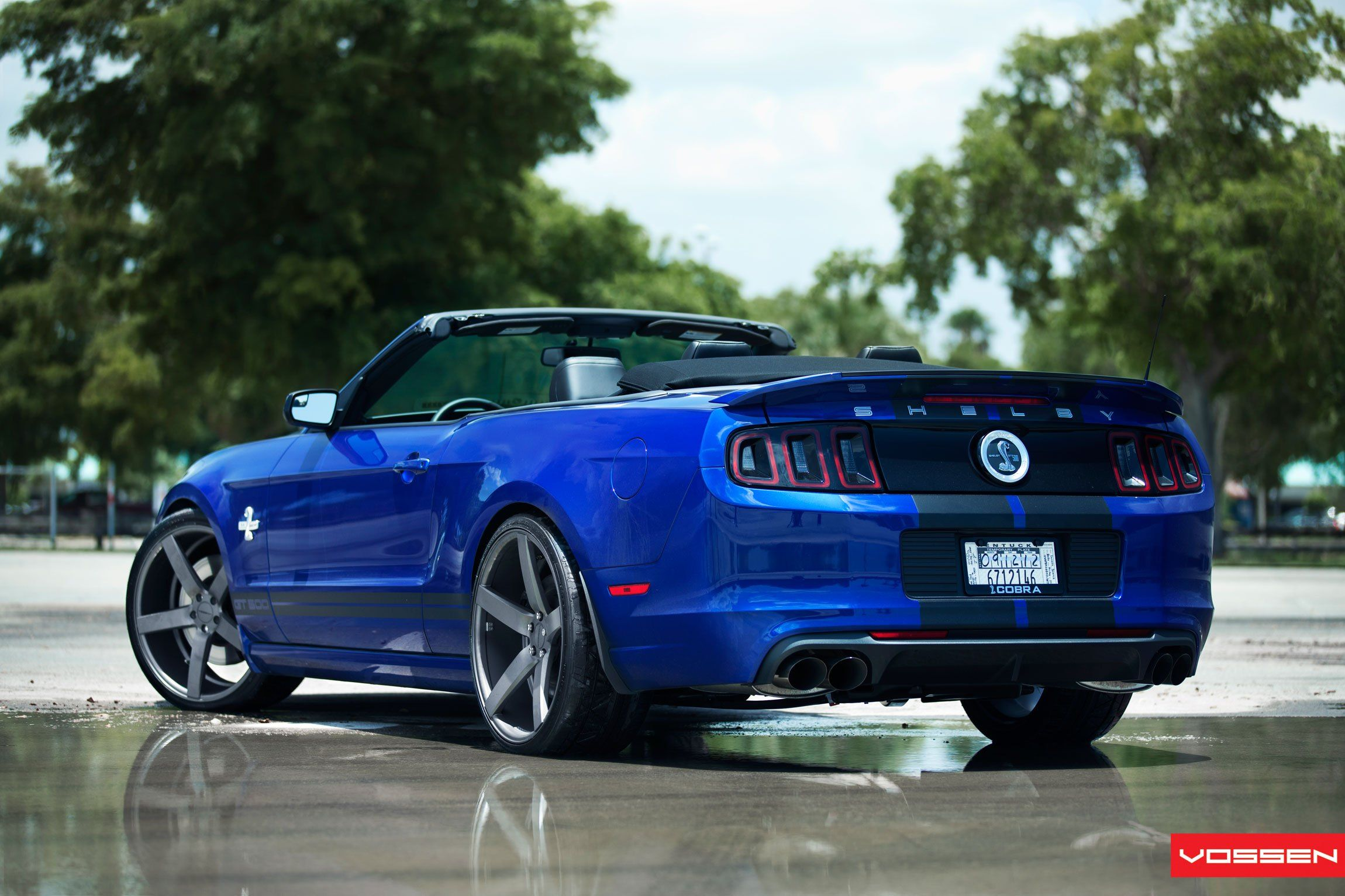 Convertible Electric Blue Ford Mustang Shelby Customized To Reveal Its Wild Nature Mustang Shelby Ford Mustang Shelby Ford Mustang