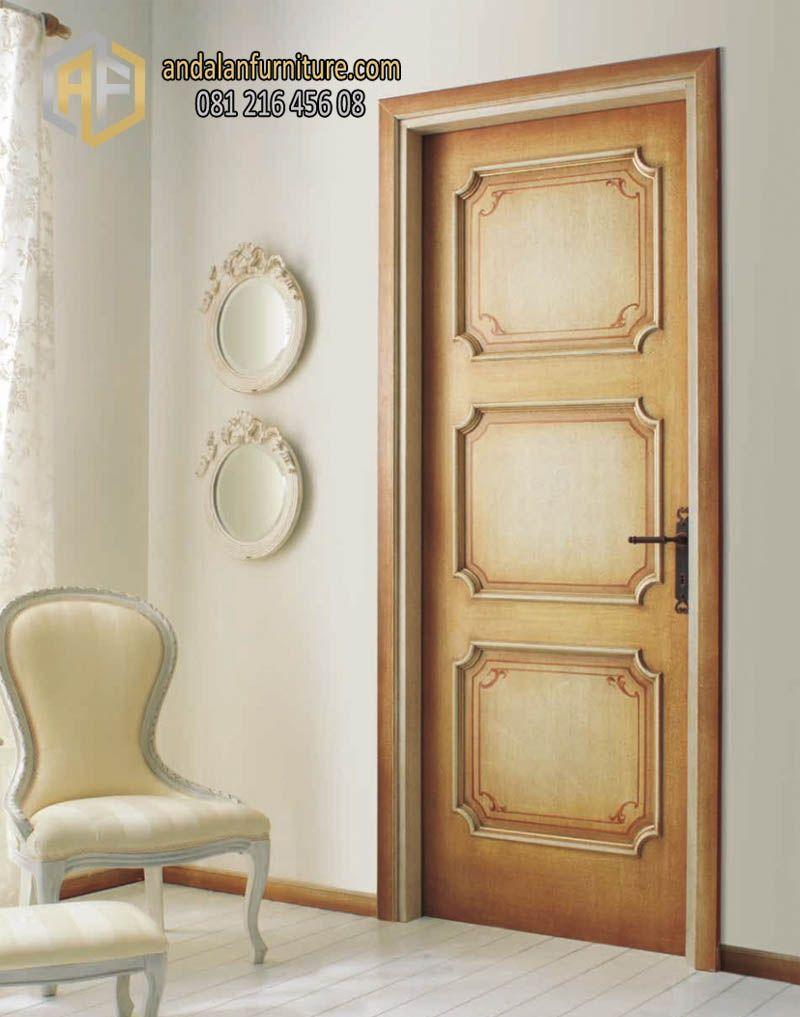 Pintu Kayu Jati Ukiran Jepara Desain Klasik Pintu