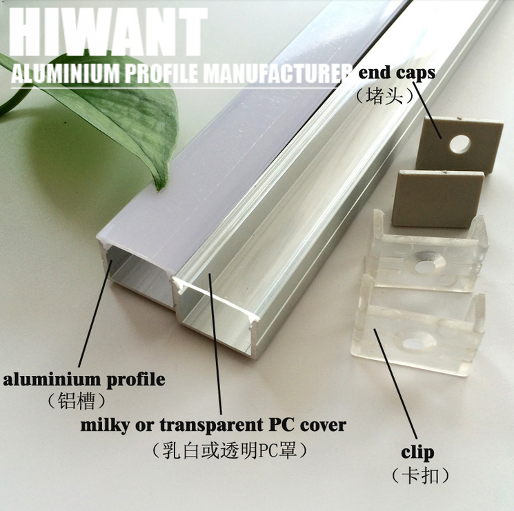 Hot Selling Anodized Aluminium U And V Channel Profile Light Bar Factory Price Bar Lighting Office Organization Aluminium