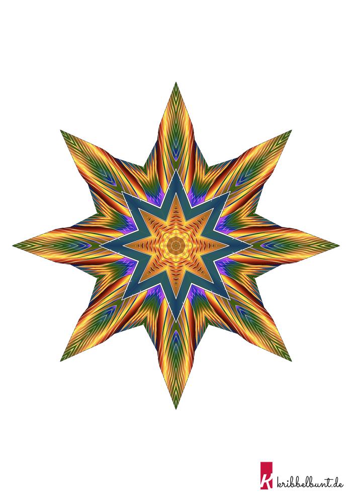 Sterne Bastelvorlage