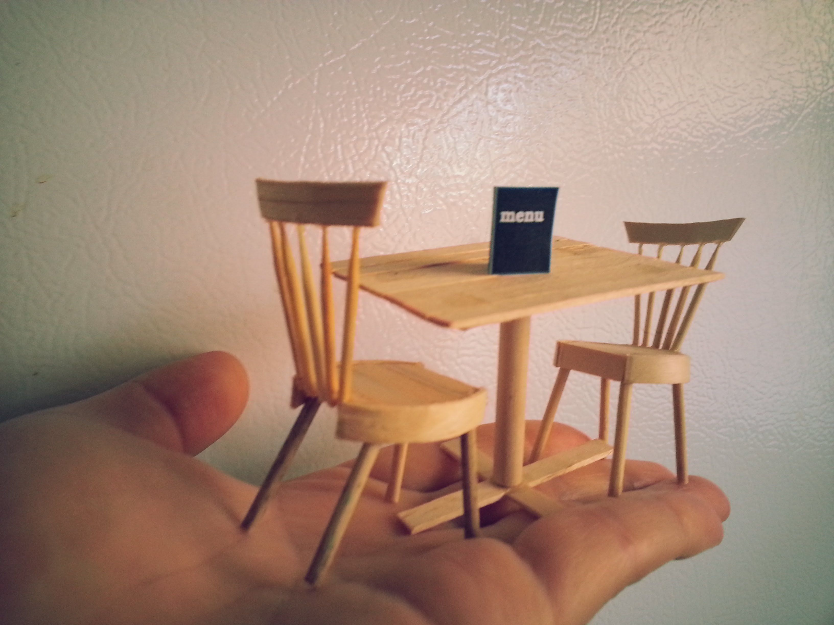 Delightful DIY Miniature Dining Table And Chairs
