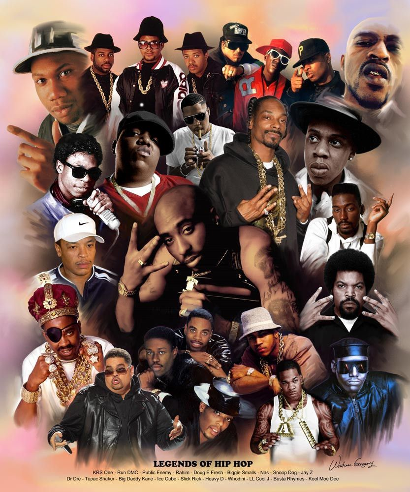 Legends Of Hip Hop | entertainment | Hip hop art, Hip hop