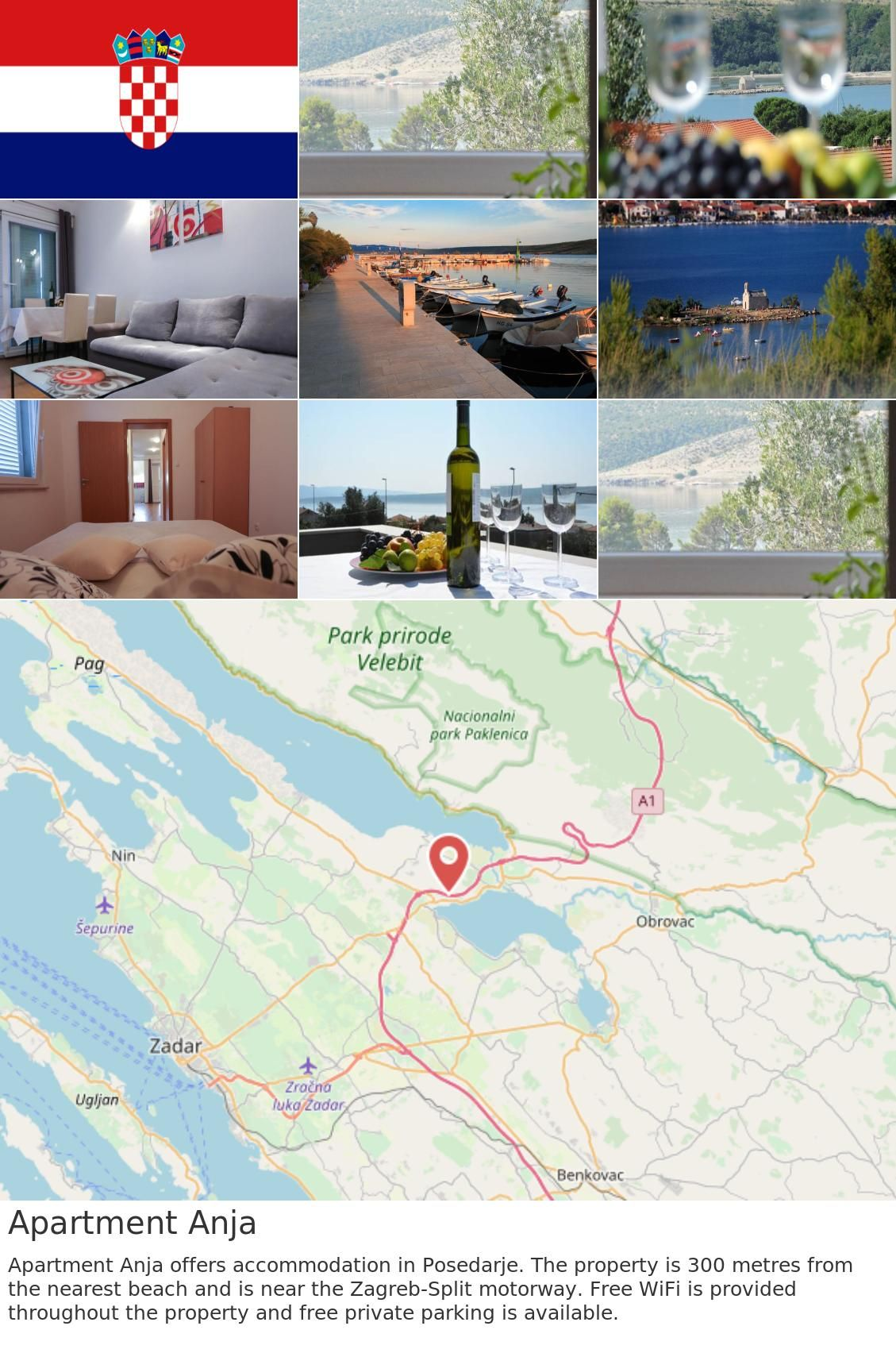 Europe Croatia Posedarje Apartment Anja Apartment Anja Offers Accommodation In Posedarje The Property Is 300 Metres From The Nearest Beach And Is Near The