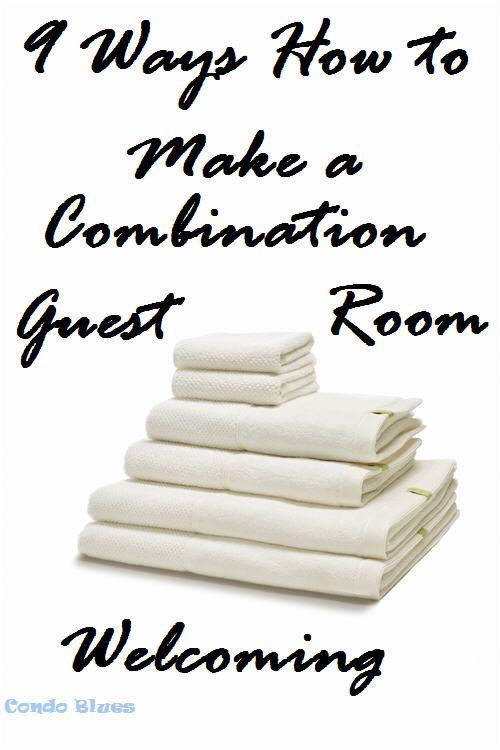 9 Ways to Make a Combo Home Office, Craft Room, Guest Bedroom Welcoming for Guests images