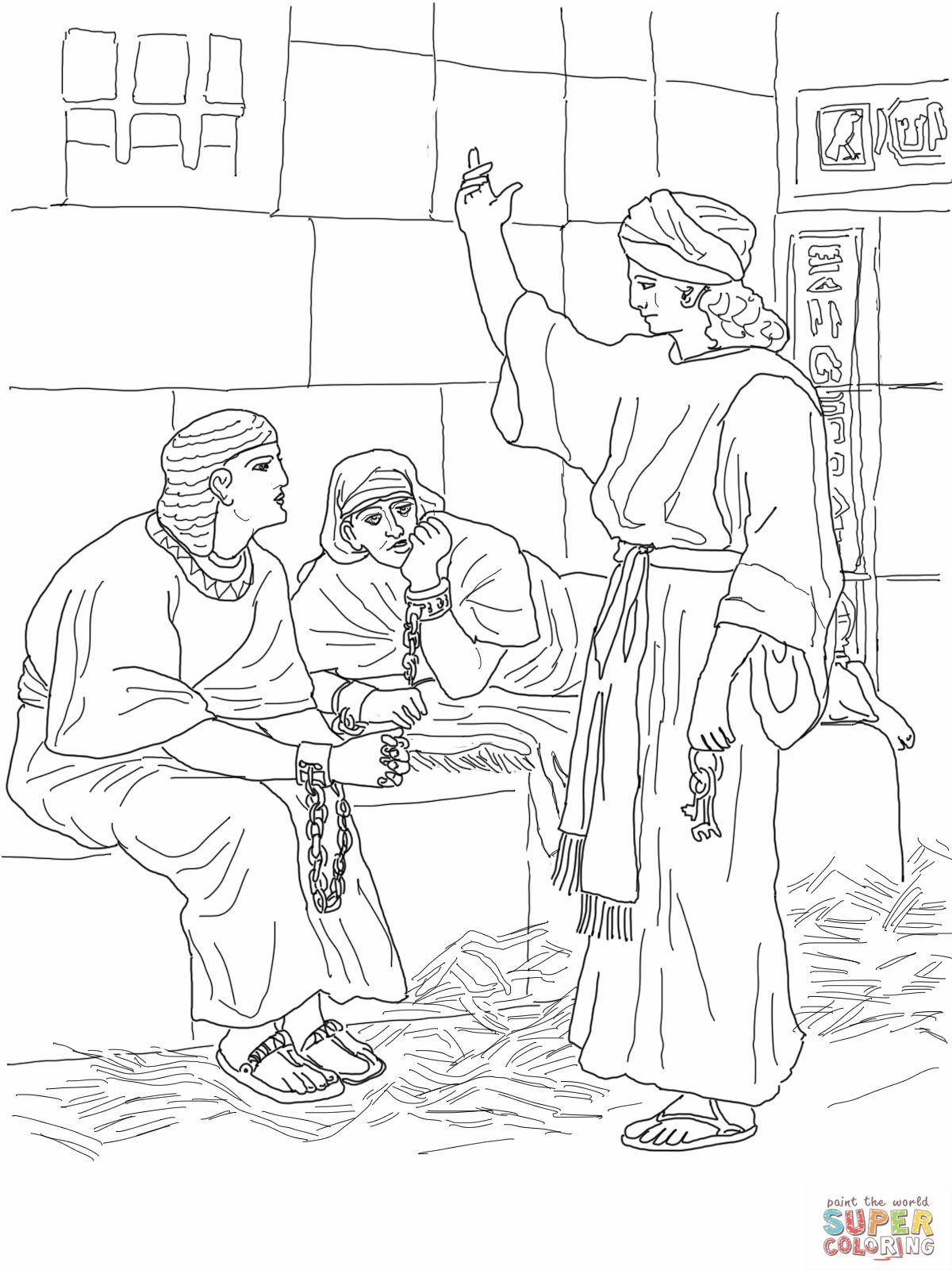 Sunday School Coloring Pages Joseph. 3 joseph in prison coloring page jpg 1200 1600  Sunday SchoolPrintablesCraft pixels Coloring