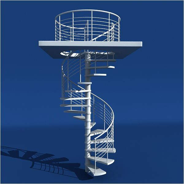 Best Model A Modern Spiral Staircase In 3Ds Max Tuts 3D 400 x 300