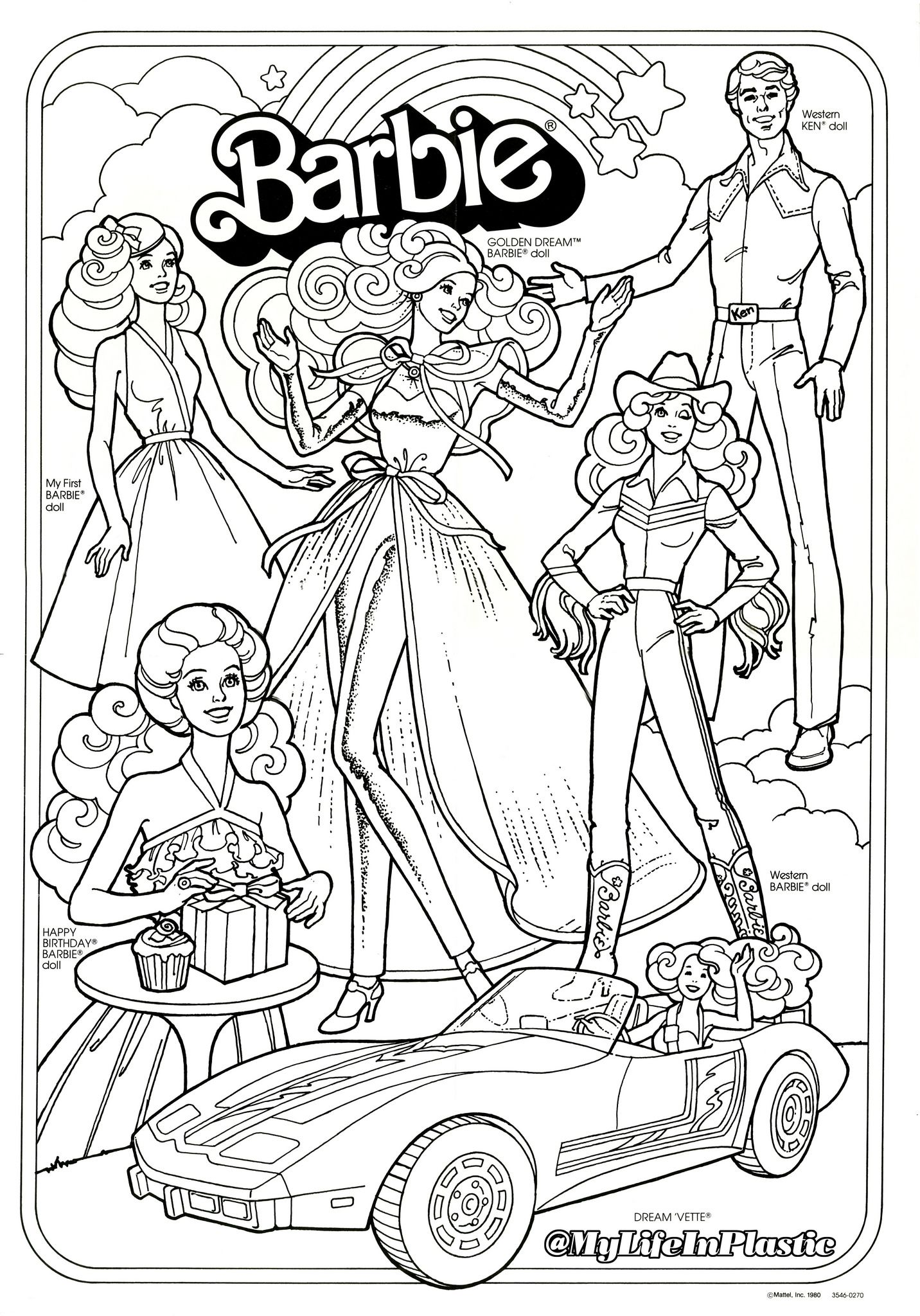 Whitman hot wheels coloring book - Barbie Coloring Page 381