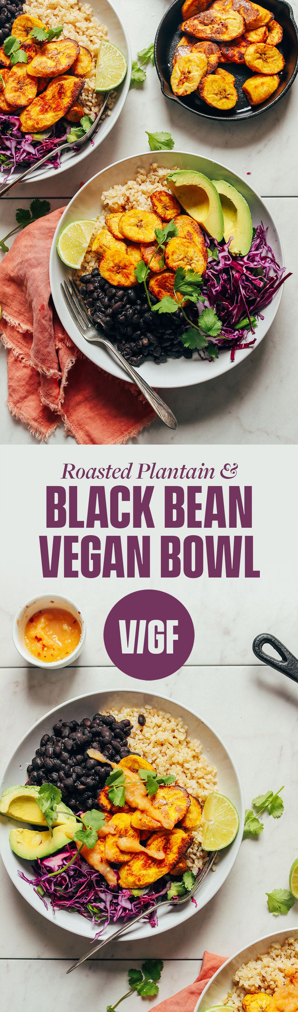 Black Bean Plantain Vegan Bowl