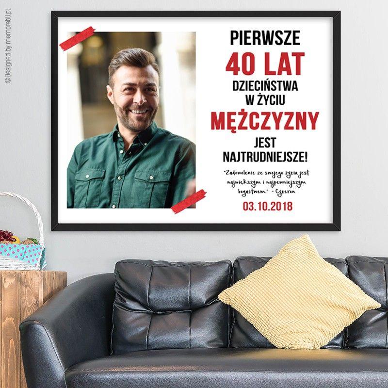 Urodzinowy Plakat Ze Zdjeciem Dla Mezczyzny Diy Presents Lettering Exploding Boxes