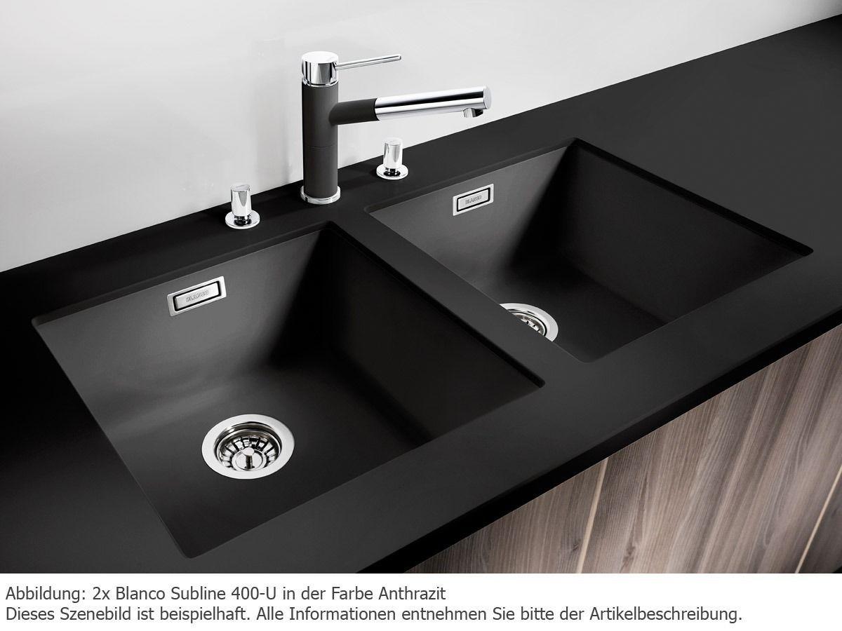 Blanco Subline 400-U Anthrazit Silgranit Küchenspüle Schwarz ...