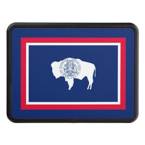 Wyoming State Flag Design Tow Hitch Cover Zazzle Com Tow Hitch Cover Hitch Cover Wyoming State