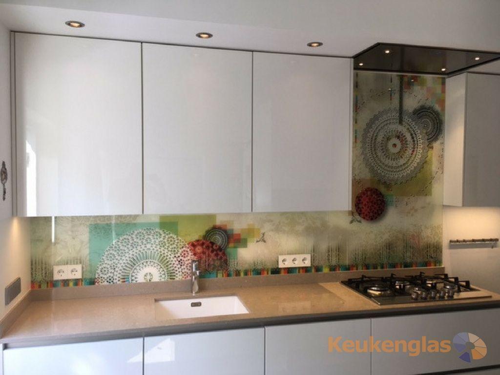 Keuken Glazen Achterwand : Keukenglas glazen achterwand met afbeelding van motief. #keukenglas