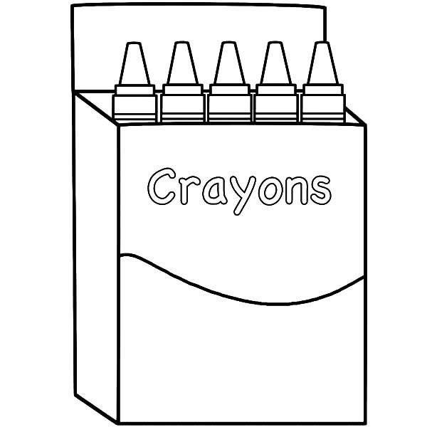 Back To School With Box Crayons Coloring Pages Best Place To Color Coloring Pages Crayon Box Coloring Sheets