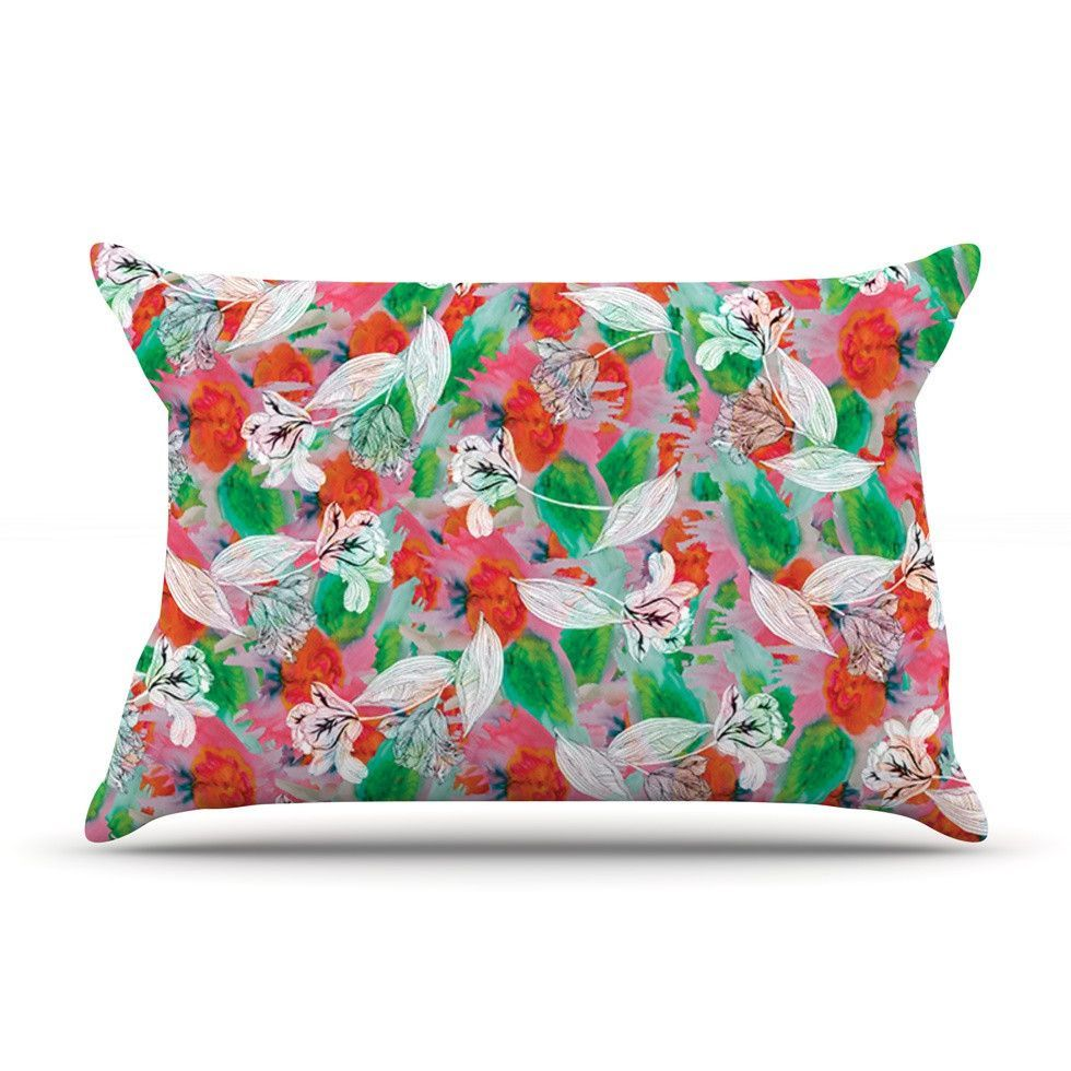 Flying tulips by akwaflorell cotton pillow sham products