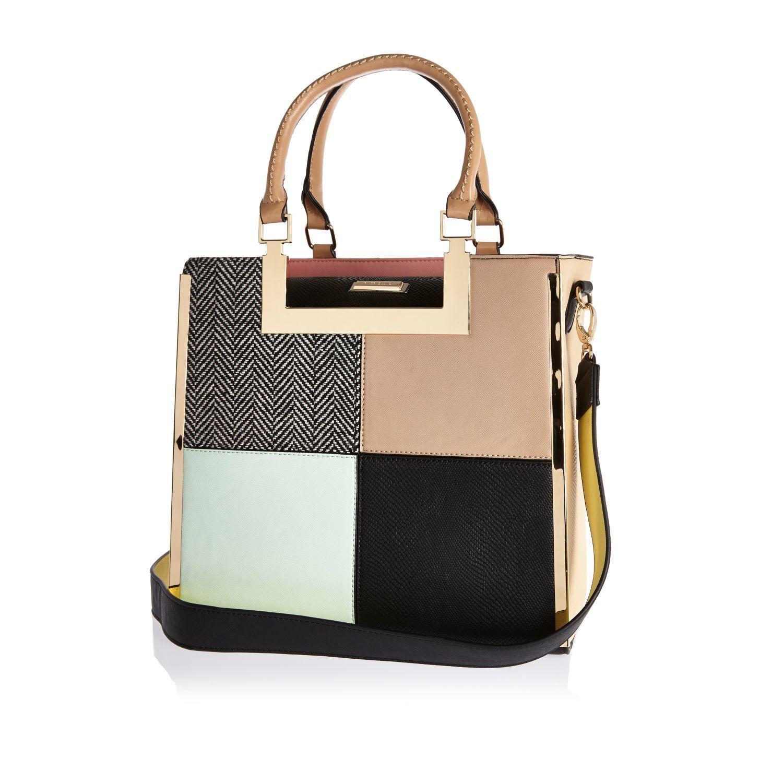 river-island-pink-pink-patchwork-tote-handbag-product-2-121679055 ...