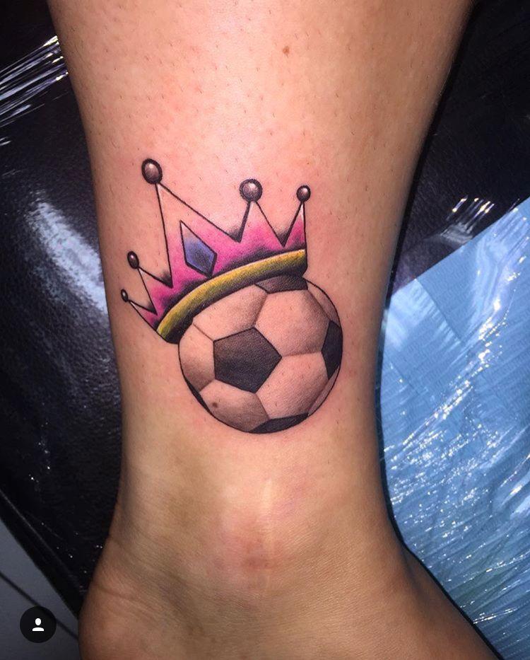 Soccer Ball Crown Tattoo Football Tattoo Tattoos Crown Tattoo