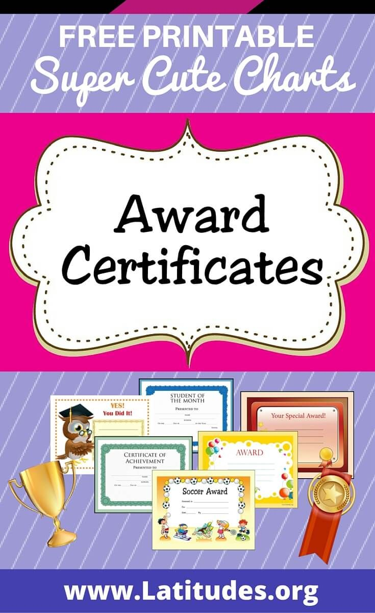 photograph relating to Printable Awards for Students referred to as Free of charge Printable Award Certificates for Children Homeschool