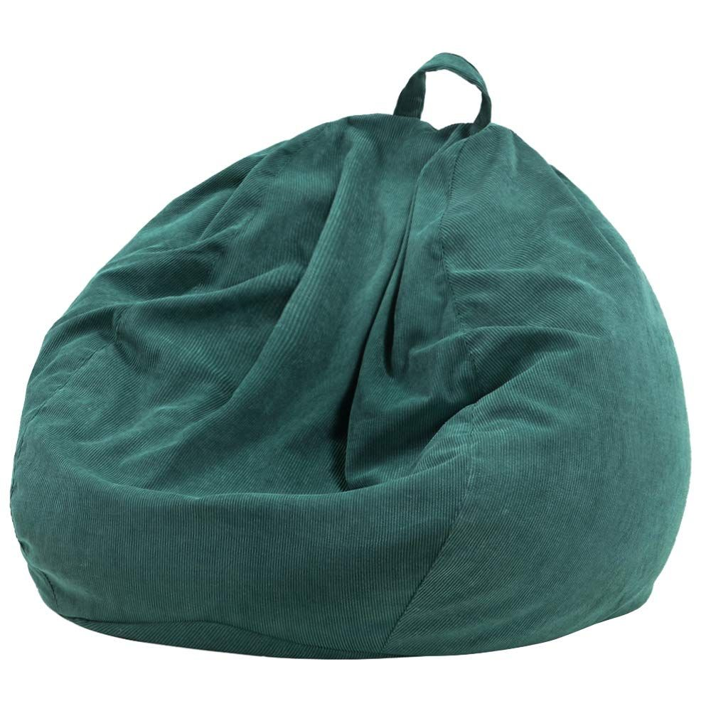 Lazy Sofa Bean Bag In 2020 Corduroy Bean Bag Bean Bag Chair Covers Bean Bag Sofa