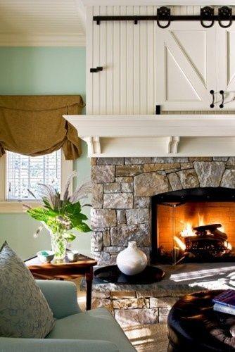 Inspiration Hiding Disguising A Tv Fireplace Design House Design Home