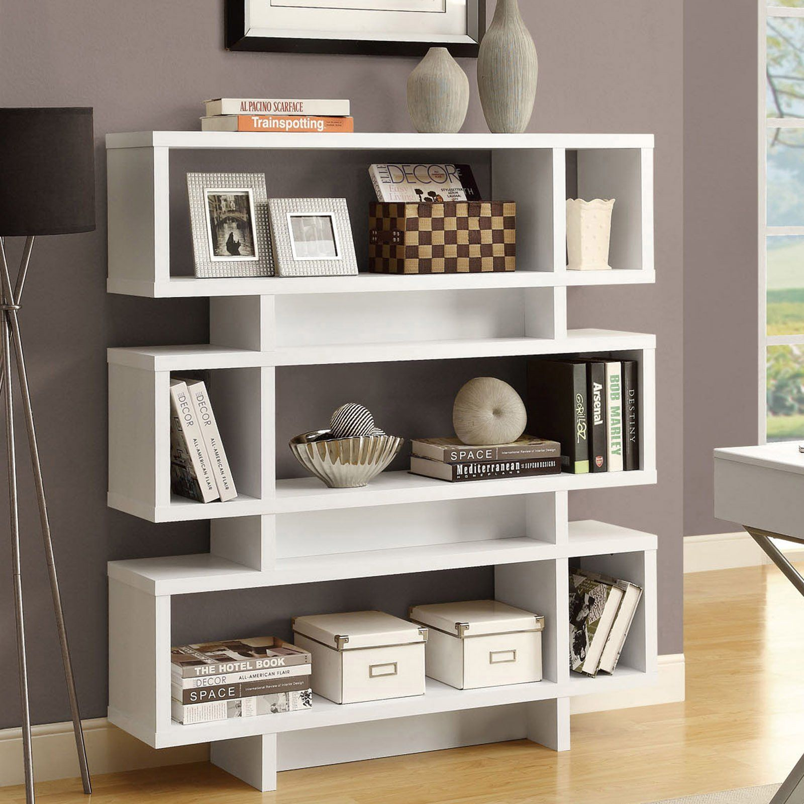 modern rakuten bookshelf export white bookcase bookcases and chrome shop furniture with shelf import product inc