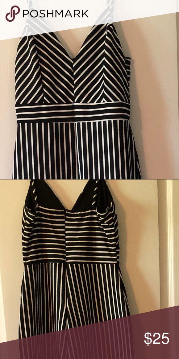 5969494faeef Fashionnova A Change in Stripes Jumpsuit size M NWT Cute Fashion Nova black  and white jumpsuit. Fashion Nova Pants Jumpsuits   Rompers