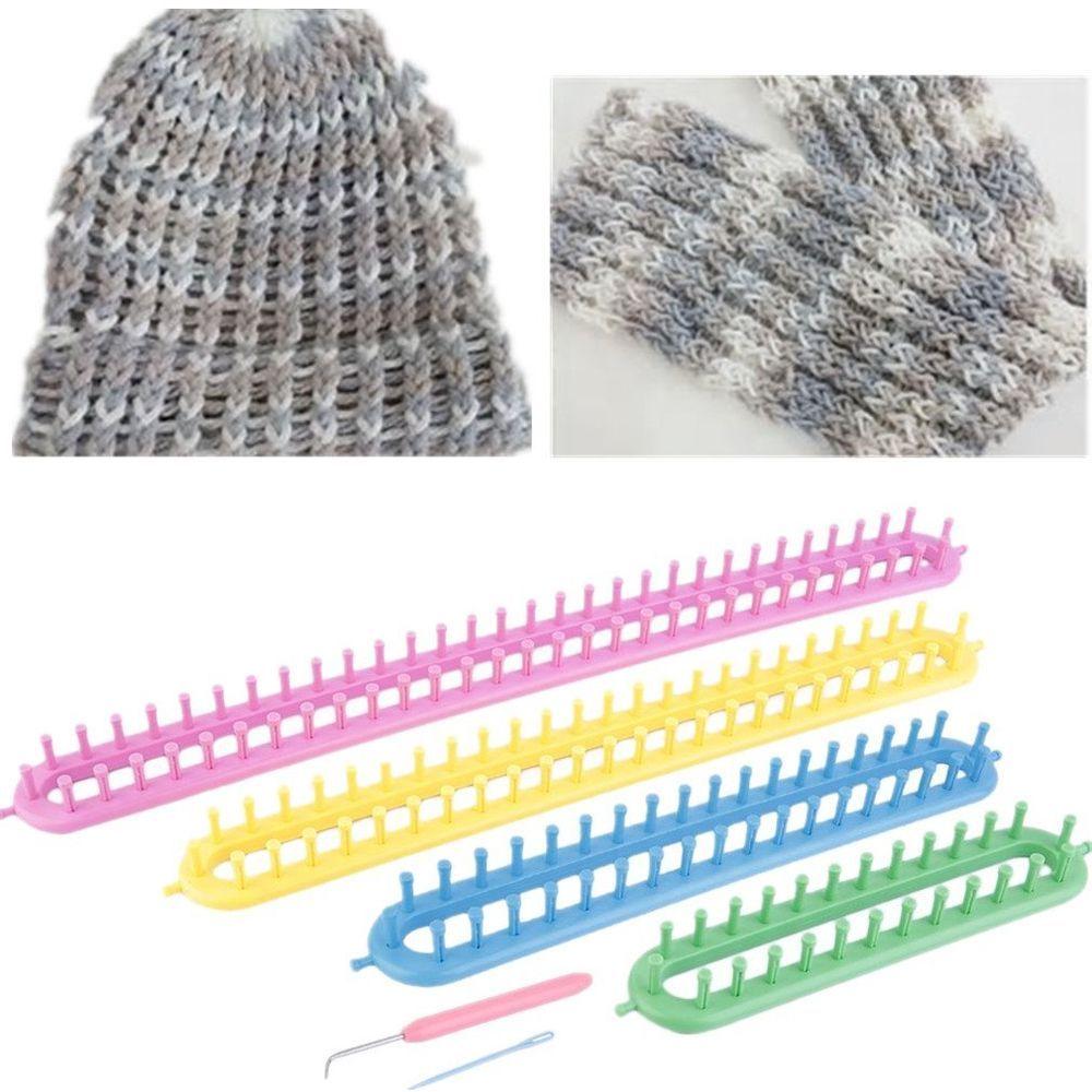 6-tlg Strickring Set Strickrahmen Knitting Loom mit Anleitung Strickliesel Haken
