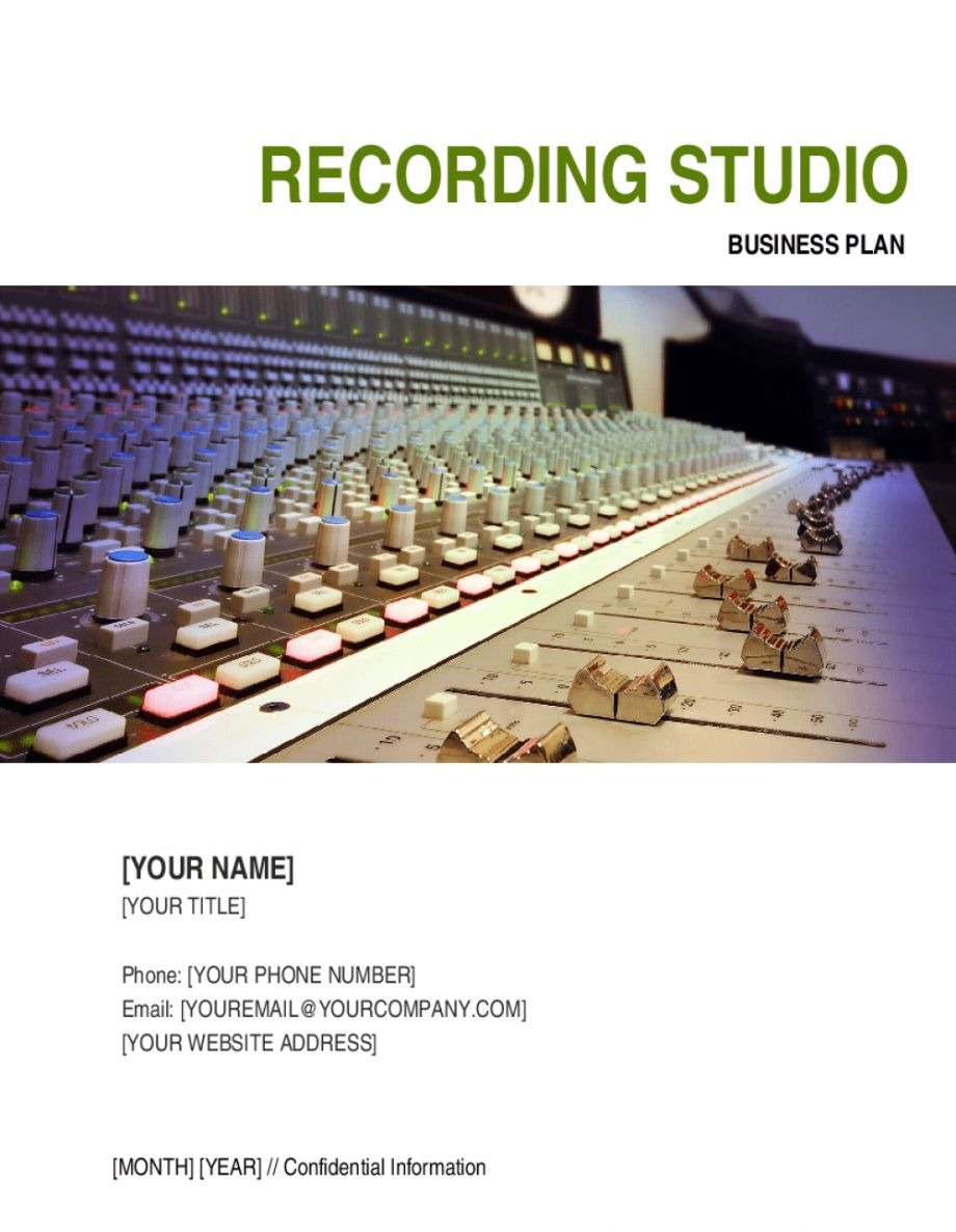 Explore Our Sample Of Recording Studio Schedule Template For Free Business Plan Template Free Business Plan Template Schedule Template Recording studio business plan template