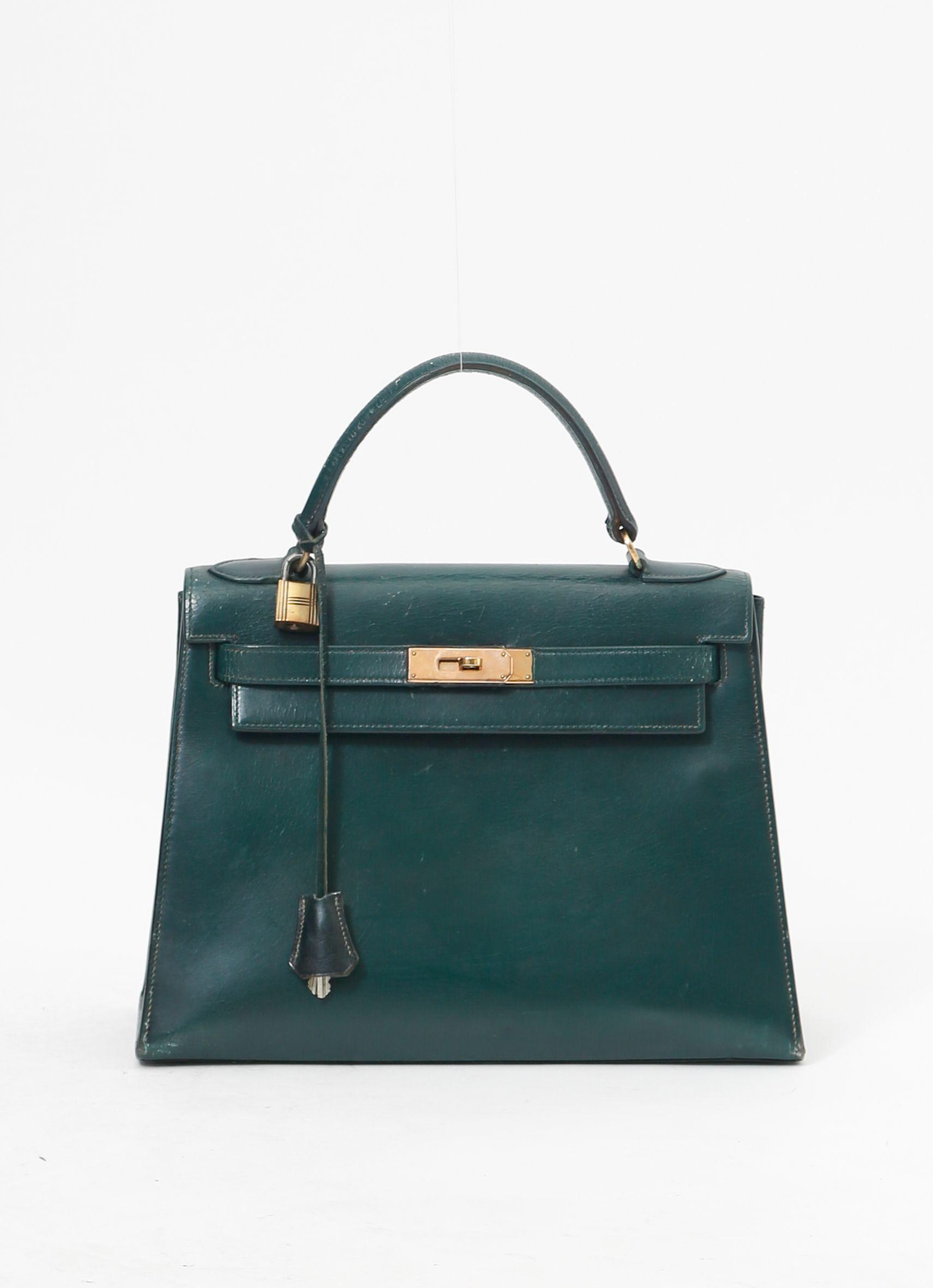 5127becedb31  70s Green Hermès Kelly Bag