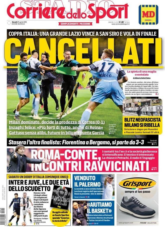 Corriere dello Sport (25 de abril de 2019) (con imágenes