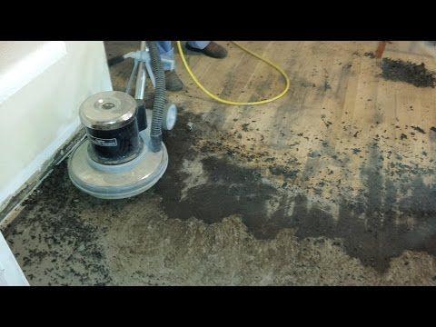The Easy Way To Remove Old Black Tar Linoleum Adhesive From Hardwood Youtube Linoleum Flooring Refinish Wood Floors Removing Vinyl Flooring