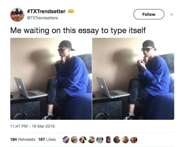 """18 Tweets That Will Make All College Students Scream, """"Me Too, The Fuck"""""""