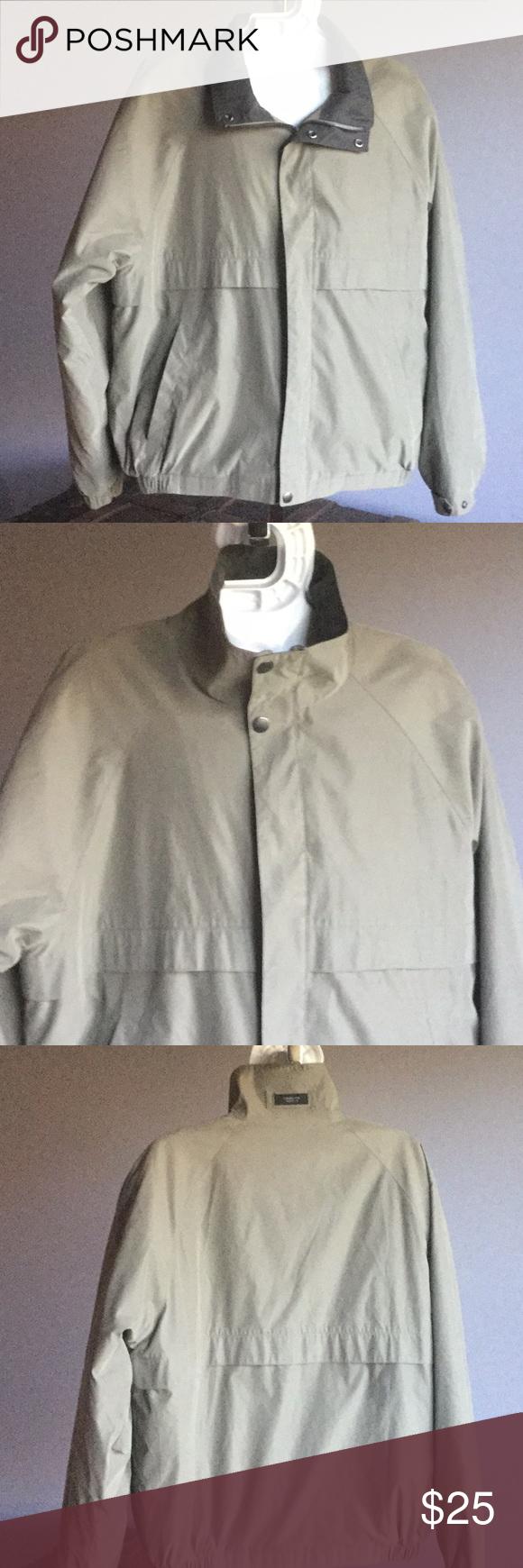Claiborne Outerwear Mens Jacket Coat Tan Large Men S Coats And Jackets Outerwear Coats Jackets [ 1740 x 580 Pixel ]