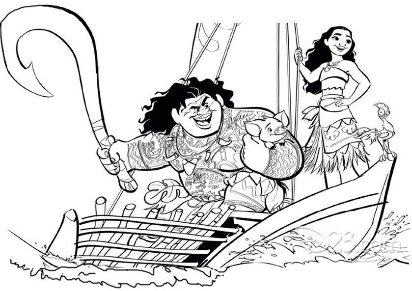 Ausmalbilder Vaiana Kostenlos Disney Malvorlagen Ausmalbilder