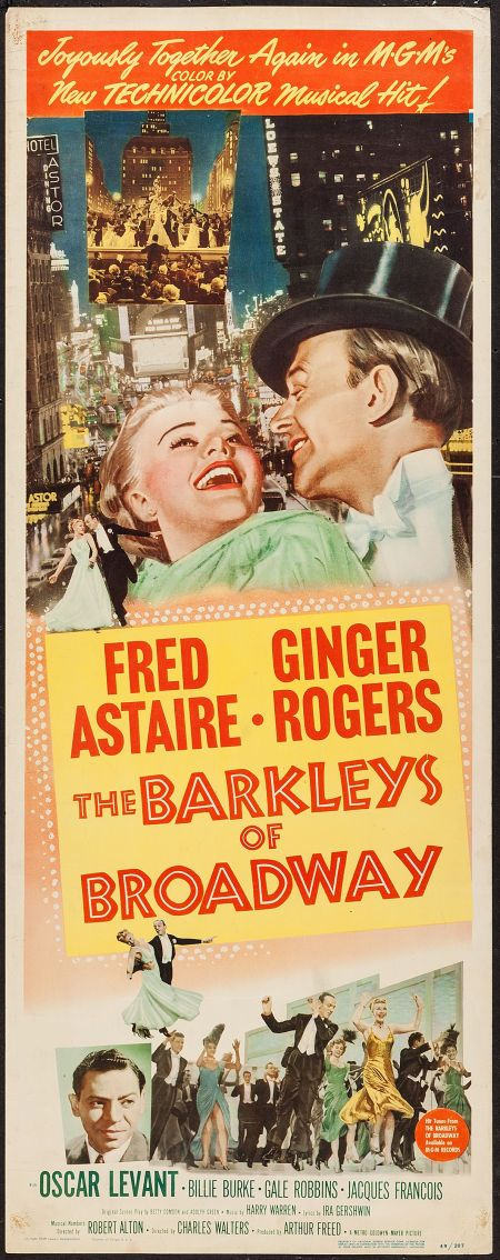 The Barkleys of Broadway Fred Astaire movie poster