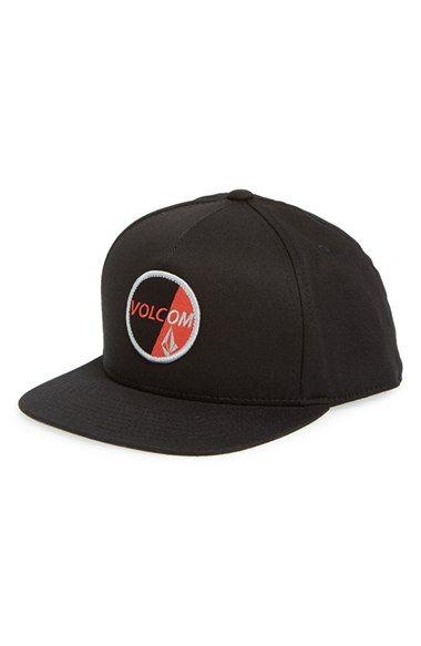 264d759416 Boy s Volcom  Public 110  Snapback Baseball Cap - Black
